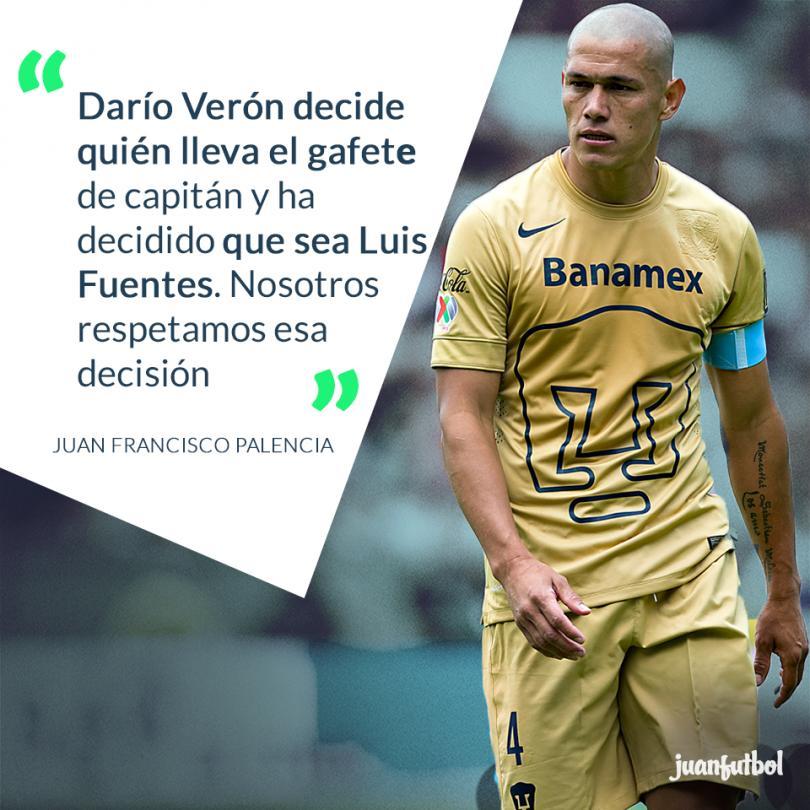 Darío Verón decidió que Luis Fuentes sería el nuevo capitán de Pumas.