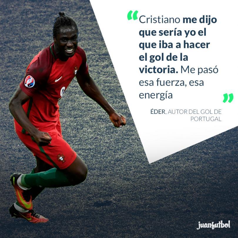 Éder asegura que Cristiano le dijo que anotaría el gol del triunfo.