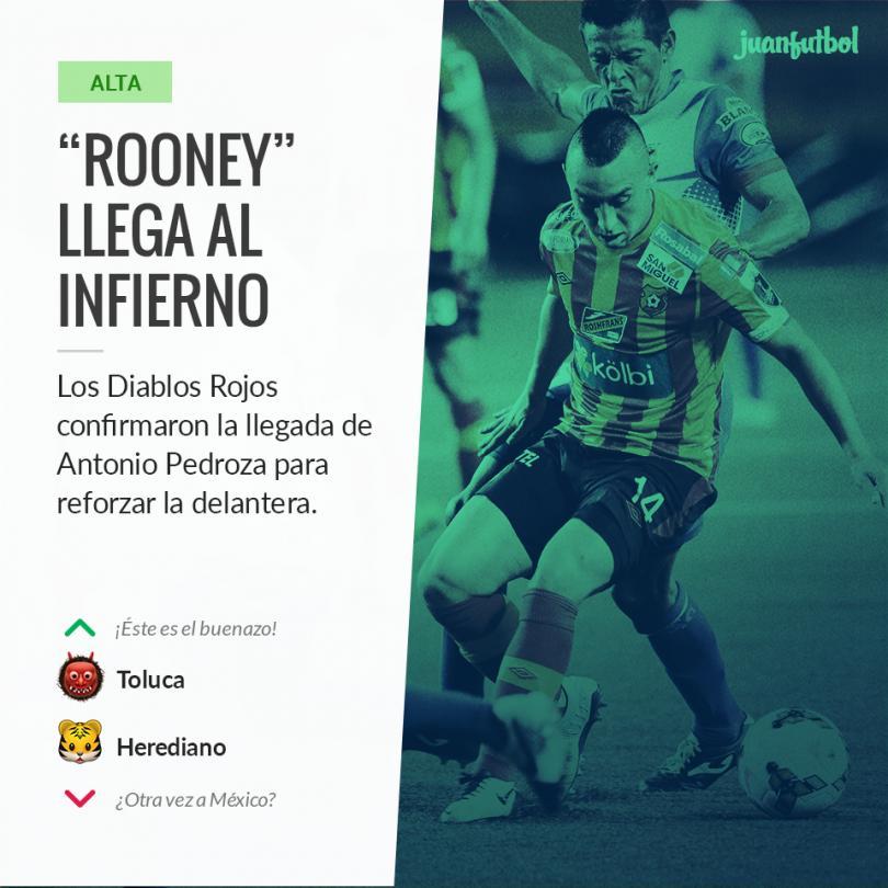 """El """"Rooney"""" mexicano viene por una nueva oportunidad al futbol mexicano."""