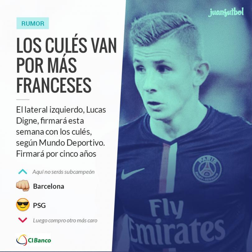 Lucas Digne firmará esta semana con el Barcelona