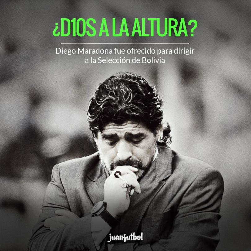Diego Armando Maradona fue ofrecido para dirigir a Bolivia