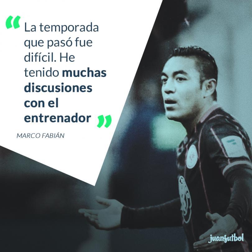 Marco Fabián reconoce diferencias con Nico Kovac.