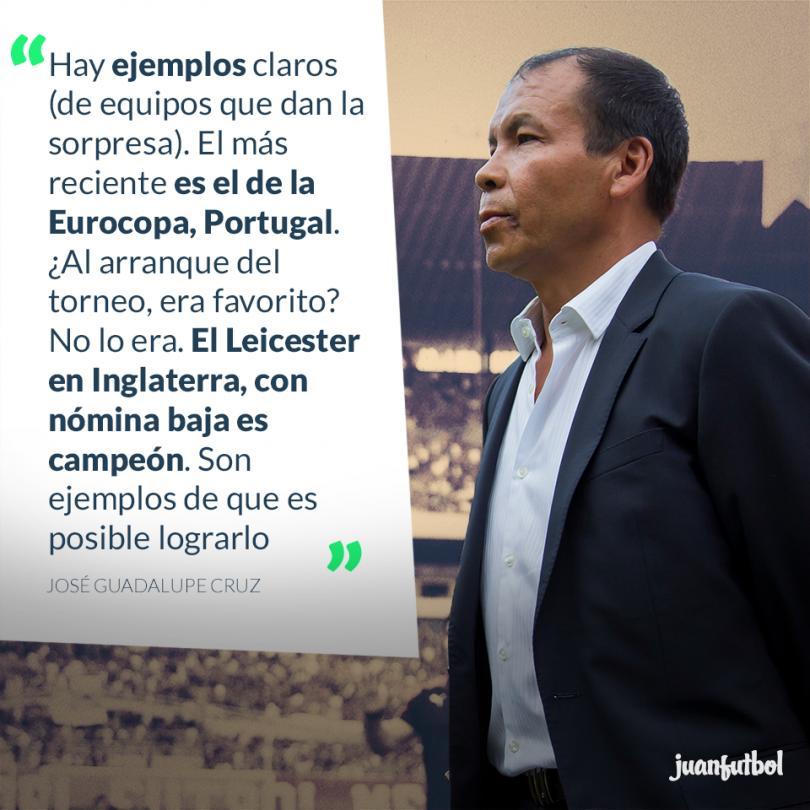 El profe Cruz quiere que el Atlas sea el Leicester de México.