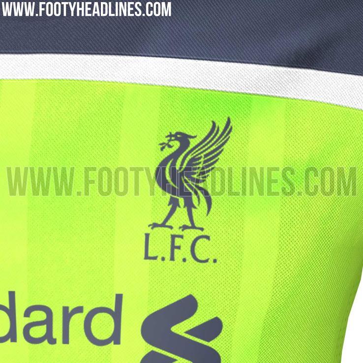 Así será la camiseta alternativa del Liverpool para la siguiente temporada.