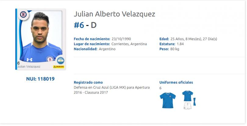 Cruz Azul registró a su último refuerzo, Julián Velázquez