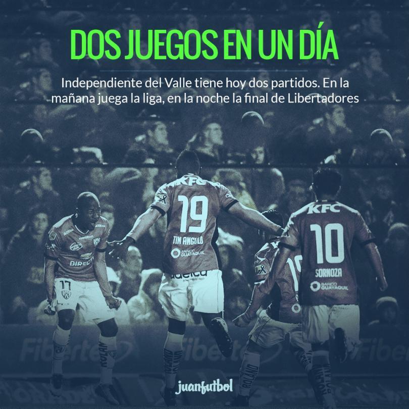 Independiente del Valle jugará hoy dos partidos