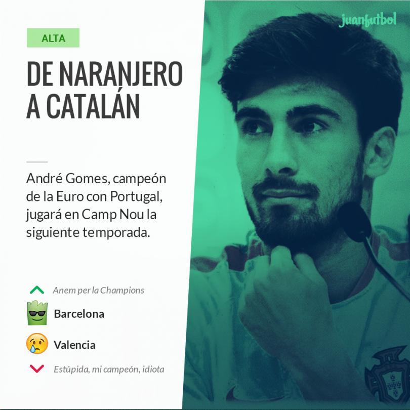 El Barça hace oficial el fichaje de André Gomes