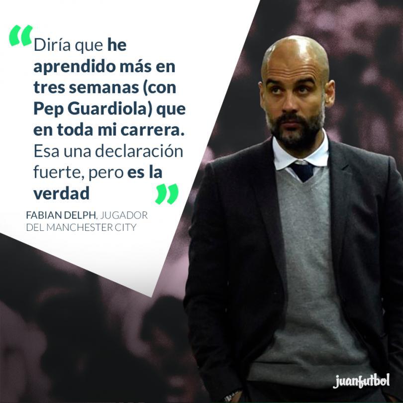 Jugador del City asegura haber aprendido más con Guardiola que en toda su carrera.