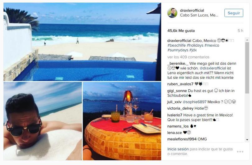 Julian Draxler pasa sus vacaciones en Cabo San Lucas