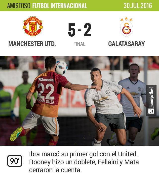 Zlatan se estrena con el United