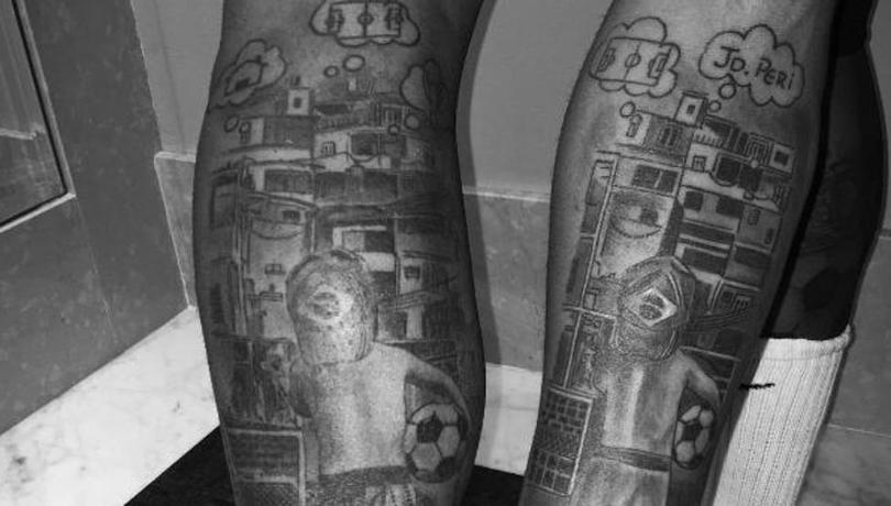Los tatuajes de Neymar y Gabriel Jesús