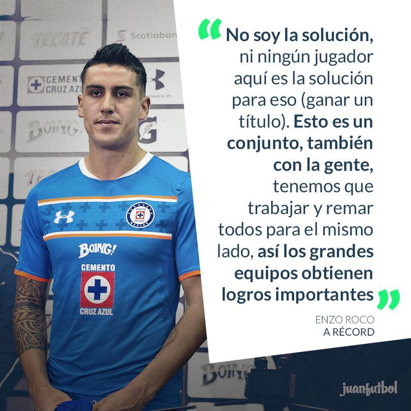 Con Cruz Azul urgido de victorias, Enzo Roco llama a la tranquilidad y al trabajo en equipo.