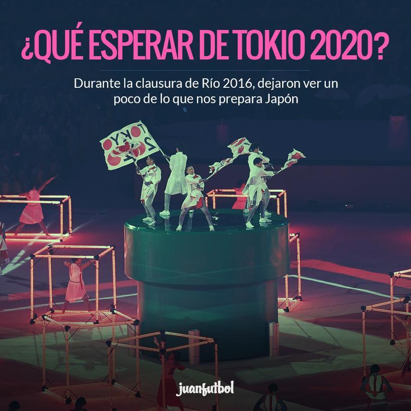 Tokio se presentó en la clausura de Río