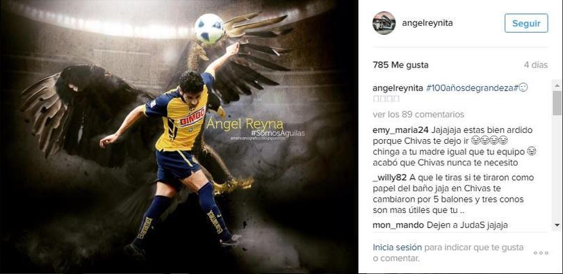 Ángel Reyna tiene un pasado chiva, americanista y rayado.