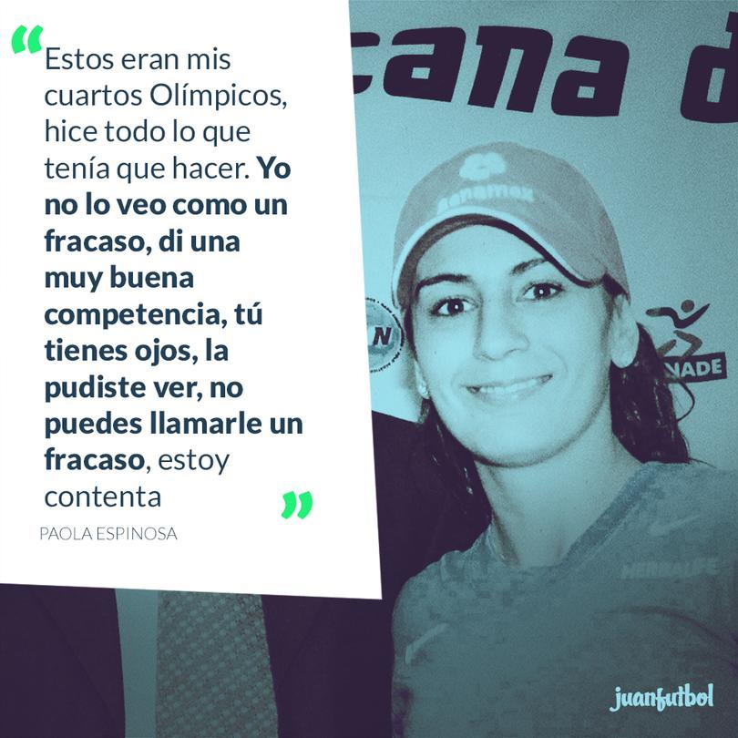 Paola Espinosa dijo que tuvo unos buenos Olímpicos