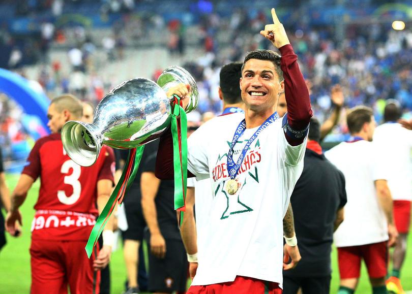 Cristiano Ronaldo en el festejo de Portugal tras derrotar a Francia