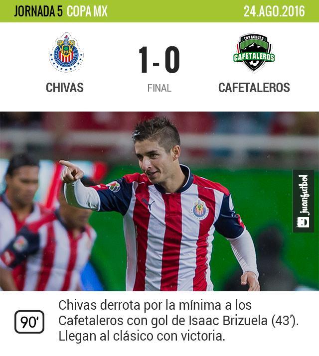 Chivas gana con gol de Brizuela