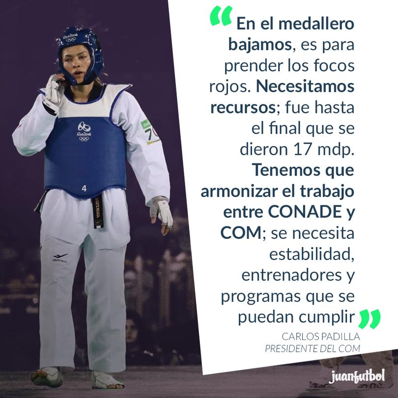 Carlos Padilla, presidente del COM, considera que la baja en el medallero es alarmante