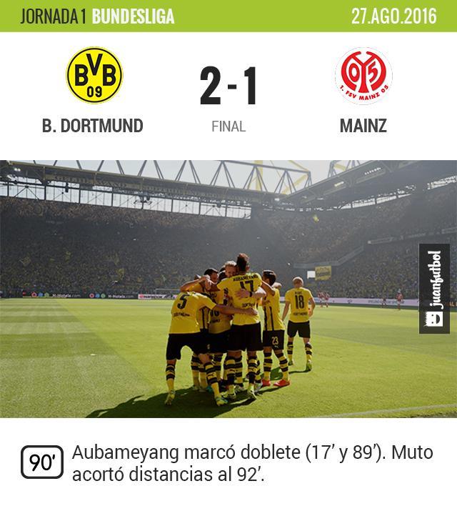 Dortmund vence al Mainz en el inicio de la Bundesliga