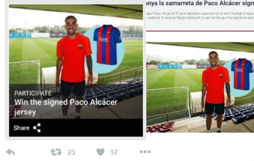 Una foto confirmaría el traspaso de Alcácer al Barcelona
