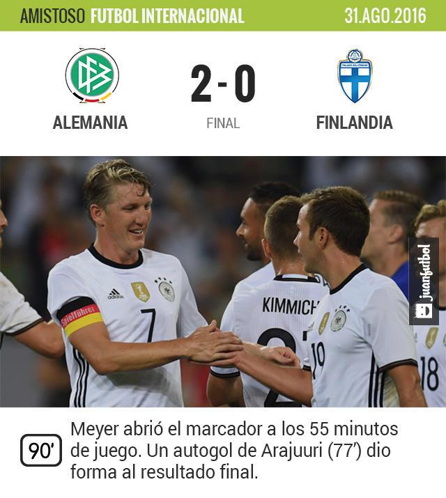 Bastian Schweinsteiger dijo adiós a la Selección de Alemania con una victoria
