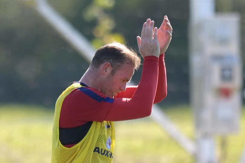 Rooney en la concentración de Inglaterra