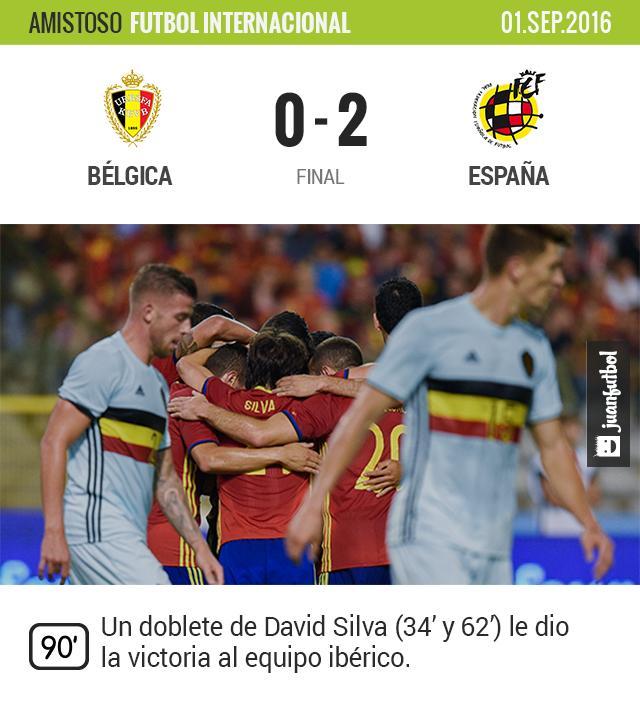 España vence a Bélgica en amistoso