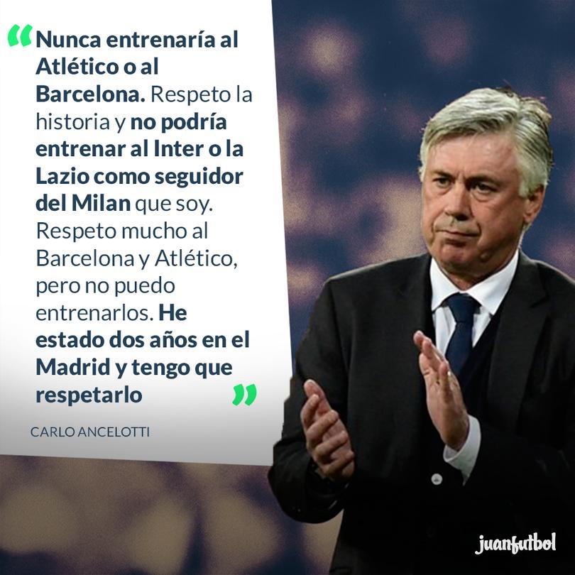 Ancelotti se negaría a dirigir al Atlético o al Barcelona