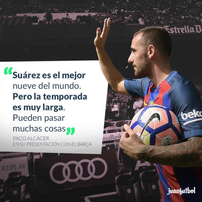 Alcácer quiere superar a Suárez en el Barça
