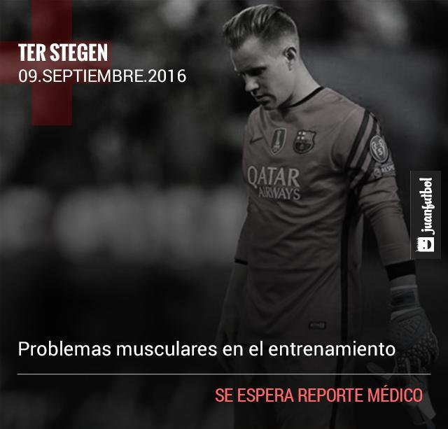 Ter Stegen no jugará contra el Alavés