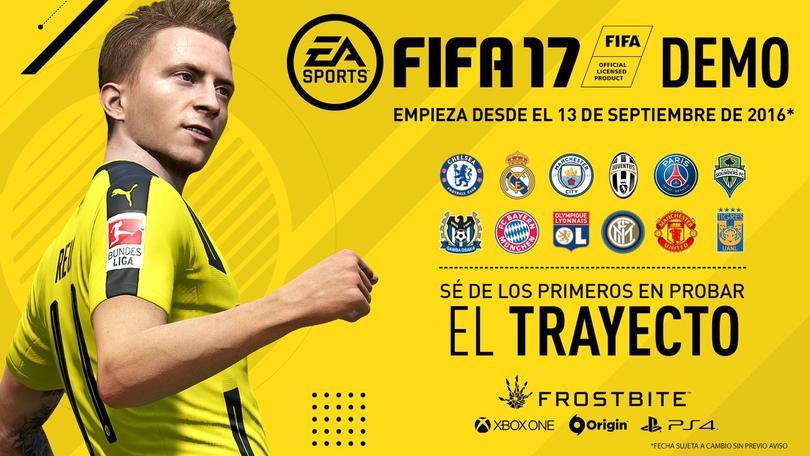 Equipos del demo de FIFA17