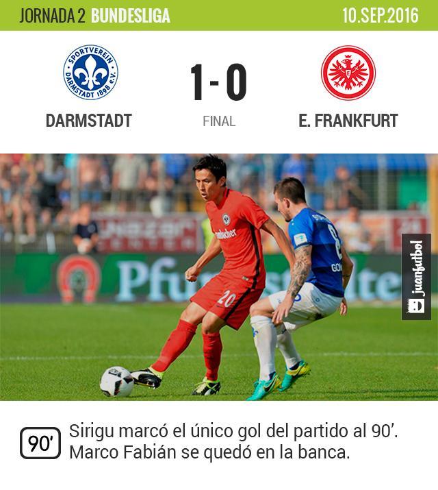 El Frankfurt de Fabián cae ante el Darmstadt