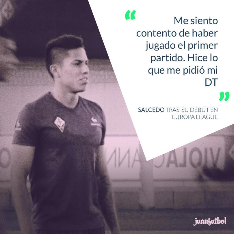 Salcedo habla sobre su debut en la Fiore.