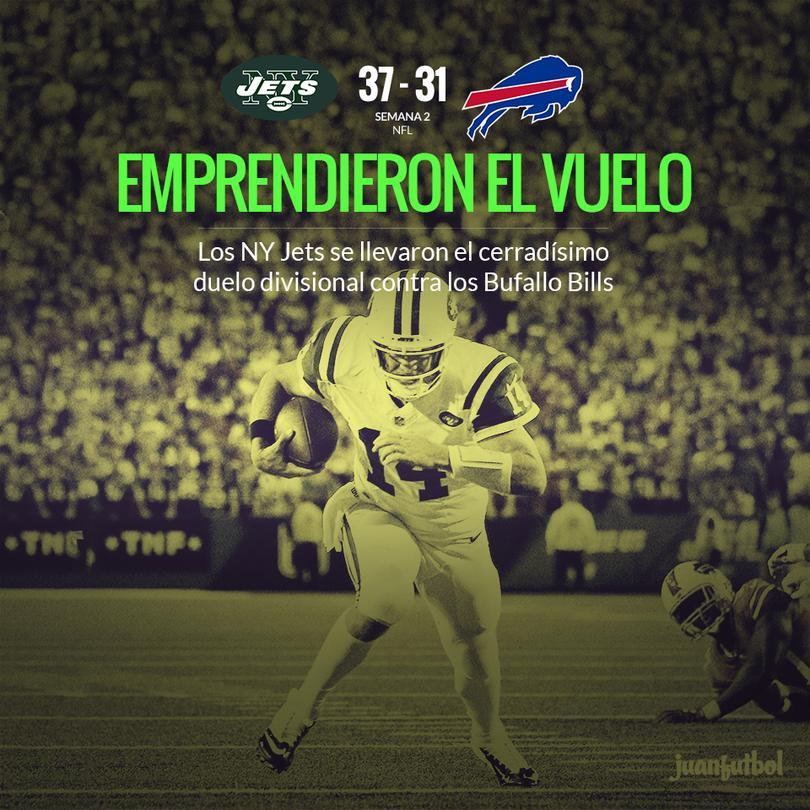 De visita se lleva Jets una apretada victoria contra su rival de división.