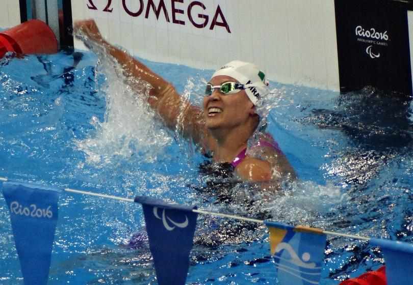 Nely Miranda se colgó el bronce en los 50 metros libres