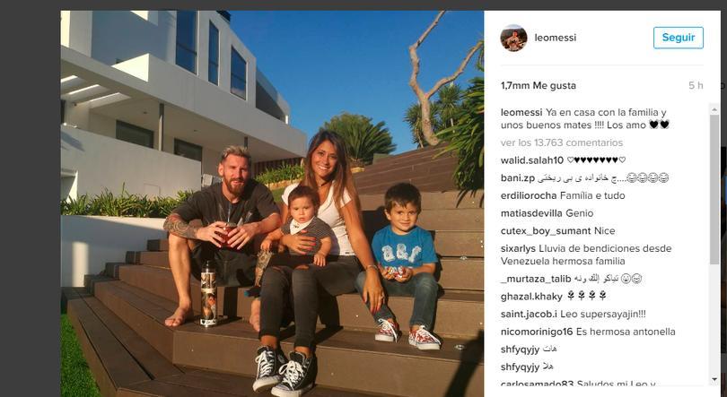 Tras la victoria con el Alavés, Messi se relaja con su familia