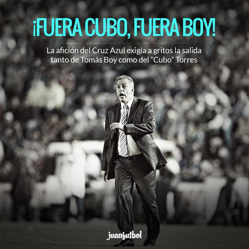 """La continuidad del """"Jefe"""" Boy pende de un hilo tras la derrota contra Toluca."""