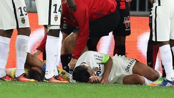 Falcao fue hospitalizado en Niza.