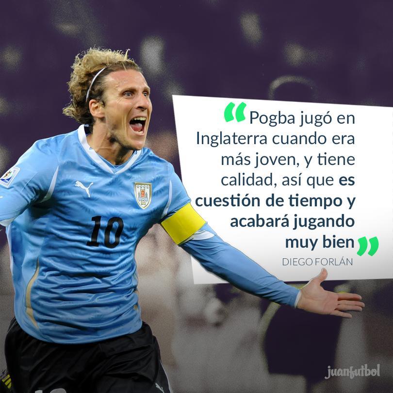 Forlán está seguro de que Pogba terminará jugando muy bien en el United