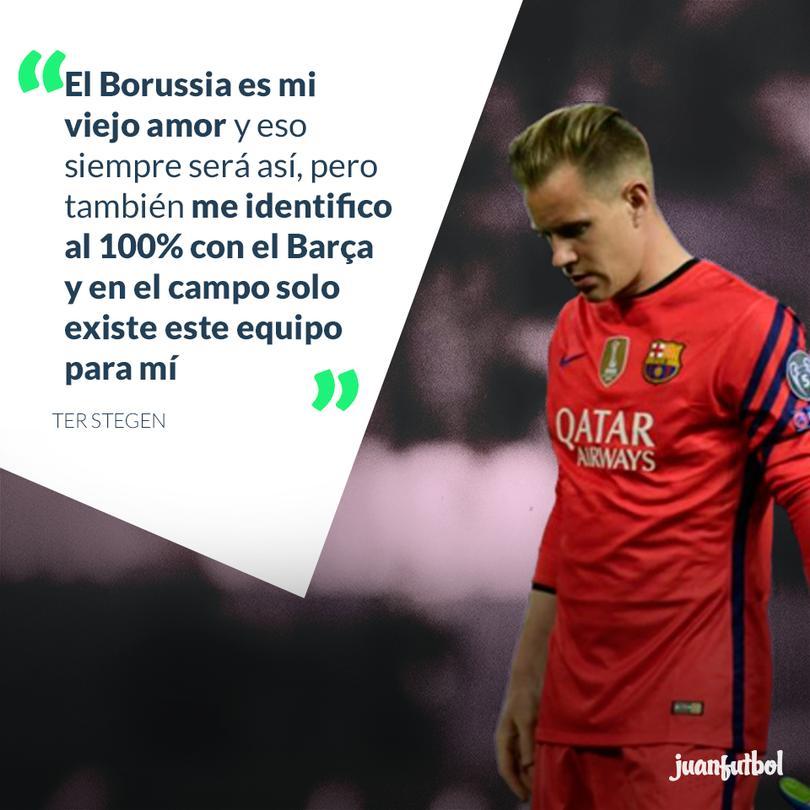 'El Borussia es mi viejo amor pero me identifico al 100% con el Barça', Ter Stegen