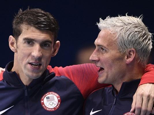 Michael Phelps y Ryan Lochte durante los Juegos Olímpicos