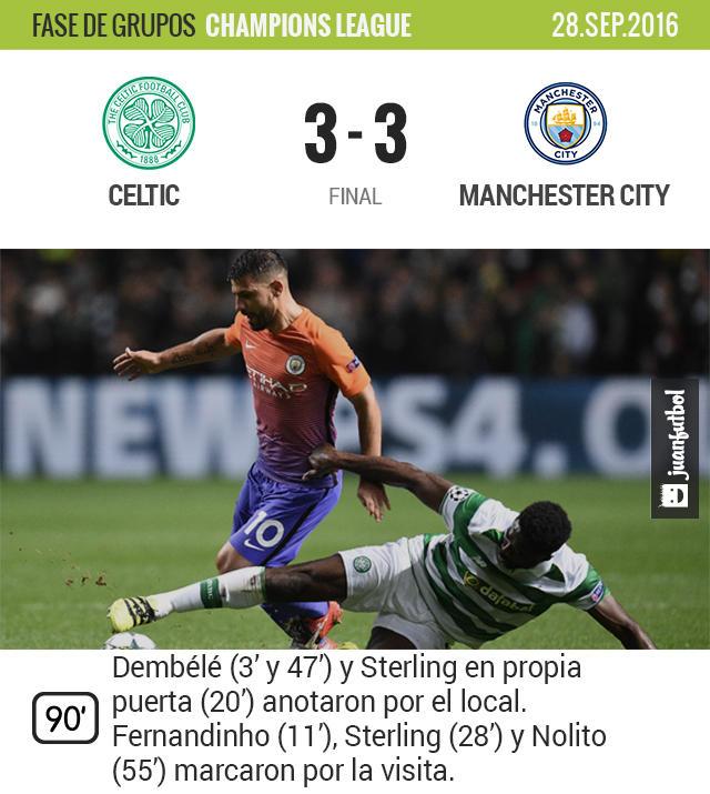 Celtic y City dieron un gran espectáculo