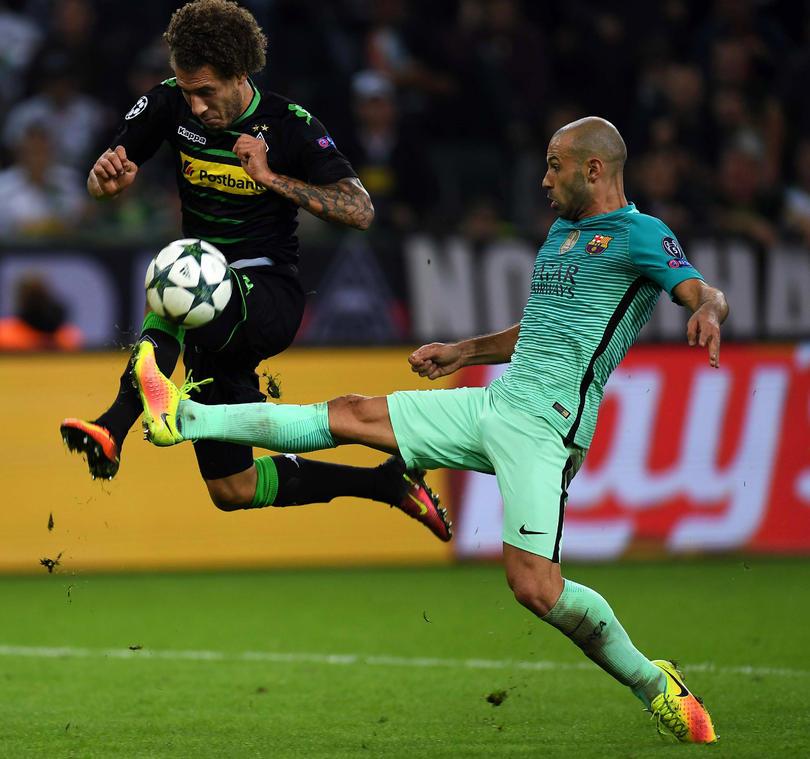 El Barcelona tuvo muchas dificultades para derrotar al Mönchengladbach