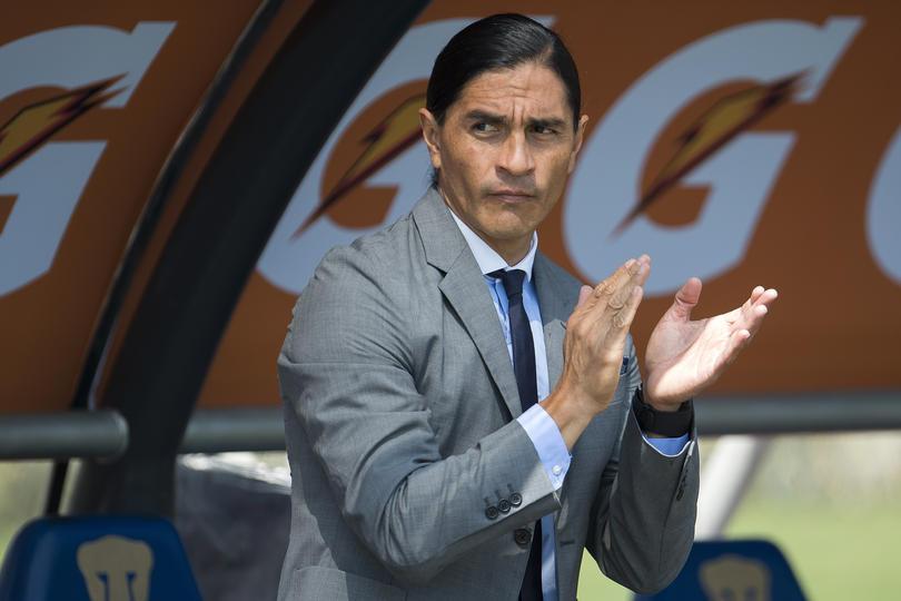 Palencia aplaude después del gol de Matías Britos