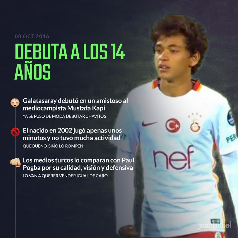 Mustafa Kapi debutó a los 14 años de edad