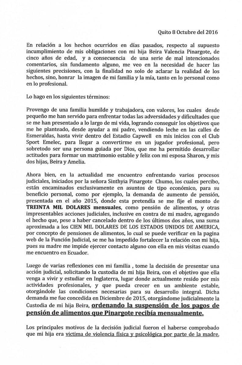 Carta aclaratoria del jugador ecuatoriano (1)