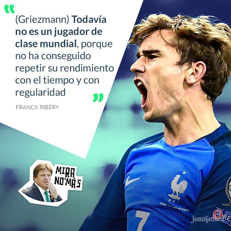 Ribéry asegura que Griezmann no es un jugador de clase mundial