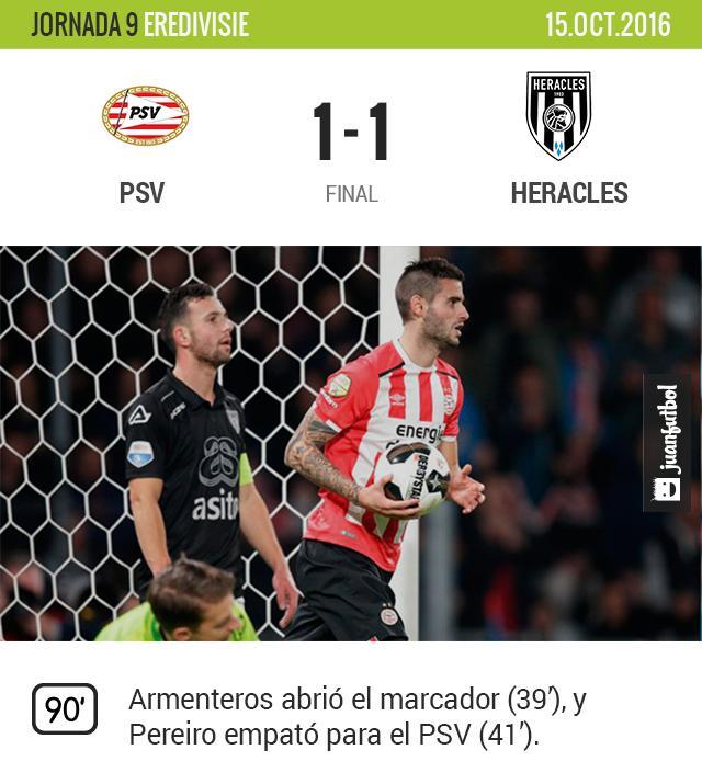 PSV empató contra el Heracles