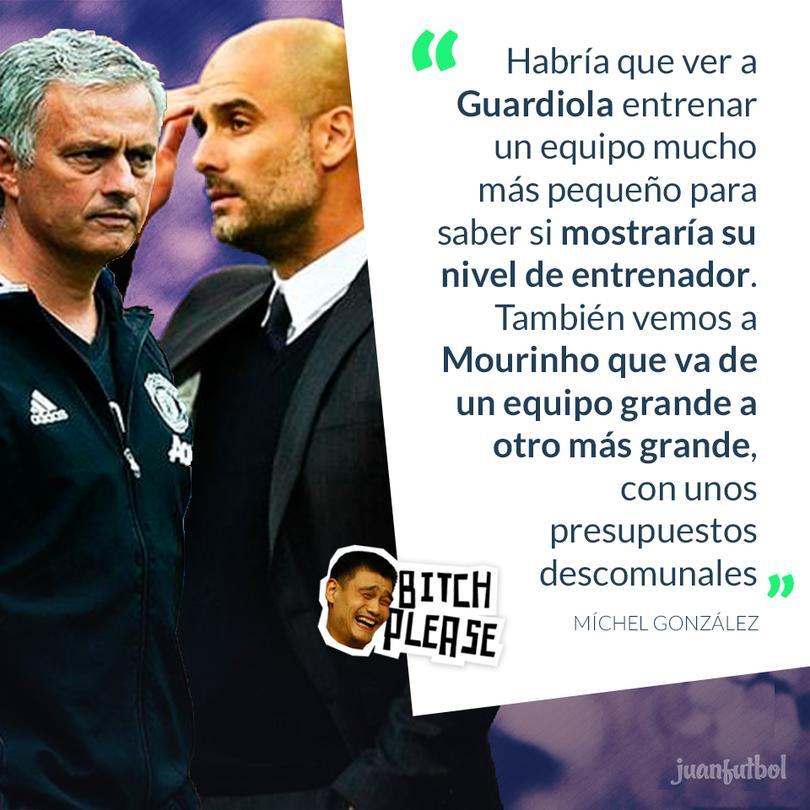 Michel criticó a Guardiola y Mourinho