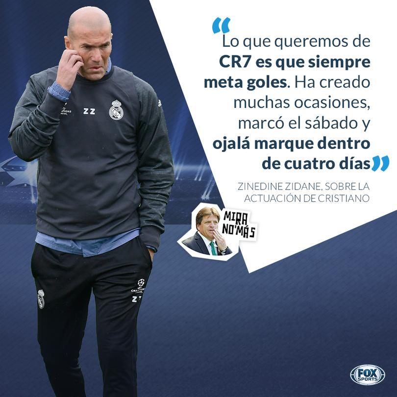 Zidane confía en que Cristiano anote en su próximo juego